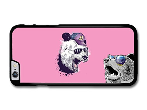 Screaming Bear With Sunglasses Funny Illustration coque pour iPhone 6 Plus 6S Plus