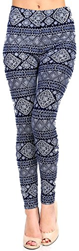 lush-moda-extra-soft-leggings-with-designs-variety-of-prints-navy-aztec-mix