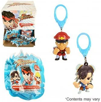 Street Fighter Guile in Camo Keychain Figure Backpack Hanger Capcom Clip Keyring