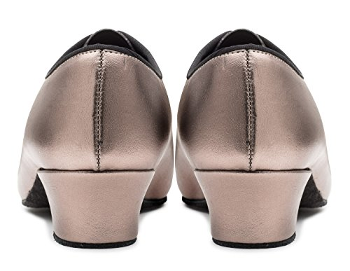 Metallic Showtime Sole Dancewear Stage Suede up Katz Metal PU Gun Ladies by Lace Practice Shoes Ballroom gIn1Pqp