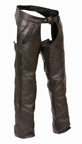 Leather Riding Chaps Motorcycle - 9