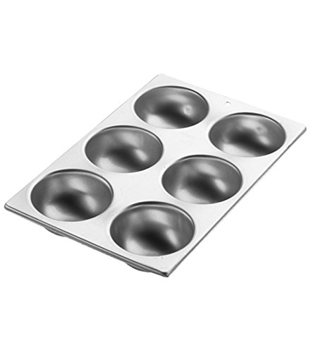 Wilton Ball Pan, 3D Aluminum Bakeware for Baking or Molding Delicious and Uniquely Shaped Treats, Makes 6 Half Balls (Best Christmas Cake Balls)