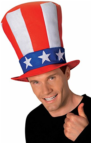 Rubie's Costume Co Men's Uncle Sam Stovepipe Hat, Multi, One Size
