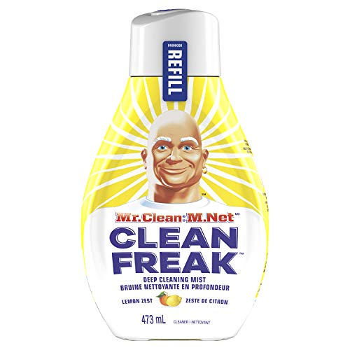 (Mr. Clean, Deep Cleaning Mist Multi-Surface Spray, Lemon Zest Scent Refill, 1 Count, 16 Fl Ounce)