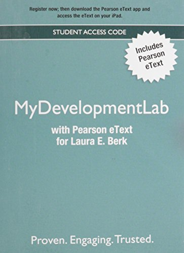 New MyDevelopmentLab with Pearson Etext - Valuepack Access Card - for Child Development