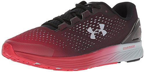 Under Armour Men's Charged Bandit 4 Running Shoe, Black (005)/Red, 12