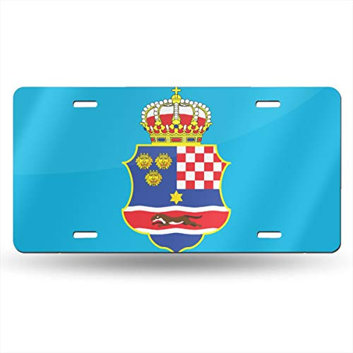 f The Kingdom of Croatia Novelty License Plate American Vehicle License Plate ()