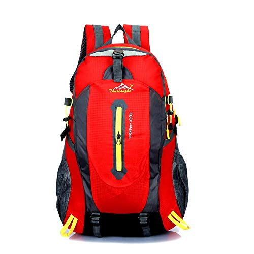 Price comparison product image Chartsea 40L Outdoor Hiking Camping Waterproof Travel Luggage Rucksack Backpack (Red)