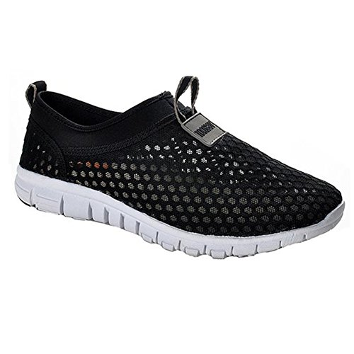 Breathable Running Sport Tennis Shoes,Beach Aqua, Outdoor,Athletic,Rainy,Skiing,Yoga,Exercise,Slip on Water,Car Shoes Women Black 9 B(M)US/EU40/ (Oval Slip Race Ons)