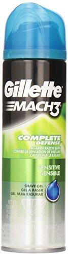 gillette-mach3-complete-defense-shave-gel-sensitive-7-ounce-pack-of-6