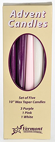 Christmas Advent Candles (Set of 5)