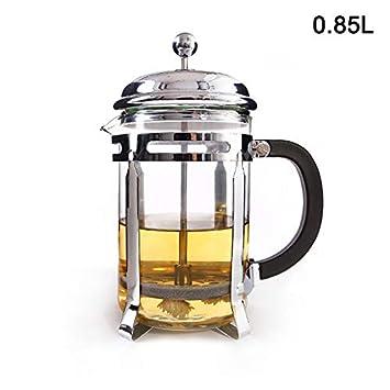 ROSOY Filtres /à caf/é r/ésistants /à la Chaleur pour Le caf/é fran/çais Cafeti/ère Marmite Pots en Verre Caf/é Creux Th/éi/ère