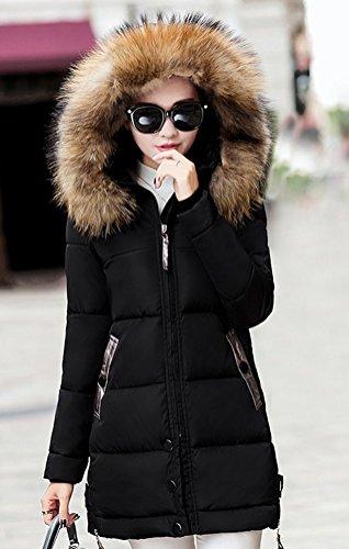 Faux Long Fourrure Hiver Doudoune Chaud Capuche Veste Magike Causal Femme Jacket Noir Blouson Manteau Marron B0wUqTZ