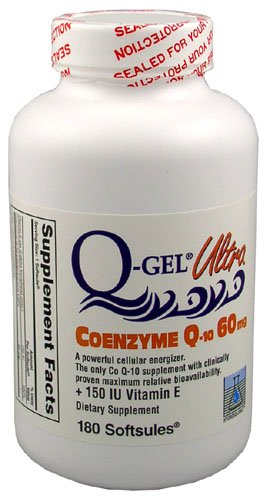 Q Gel Ultra  60Mg Hydrosoluble Coq10 180 Softgels