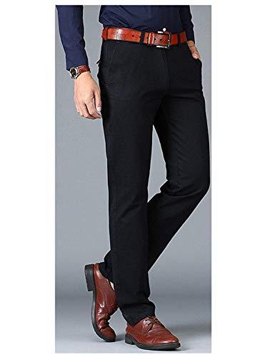 Confortable Mode Coton Kaki Solides Latérales Formelle Droite Pantalon Poches Couleurs Hommes Taille Vêtements Hx En Licht zgdqzw