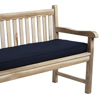 Amazon Com Mozaic Company Sunbrella Indoor Outdoor 60 By 19 Inch Corded Bench Cushion Navy Garden Amp Outdoor