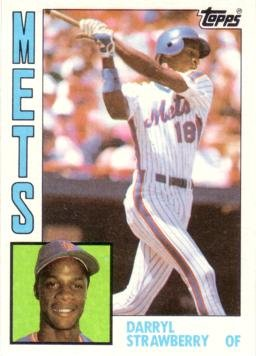 1984 Topps Baseball #182 Darryl Strawberry Rookie Card