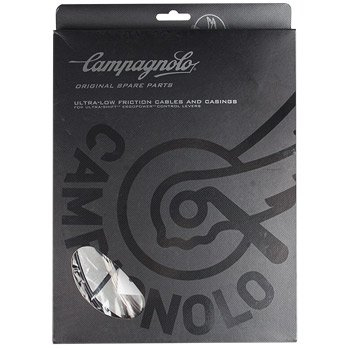 Campagnolo Record Ergo Road Brake & Derailleur Cable Set. Includes: 4 cables, housing, and ferrules. Stainless, Black, 1.6mm/1.2mm Carded.