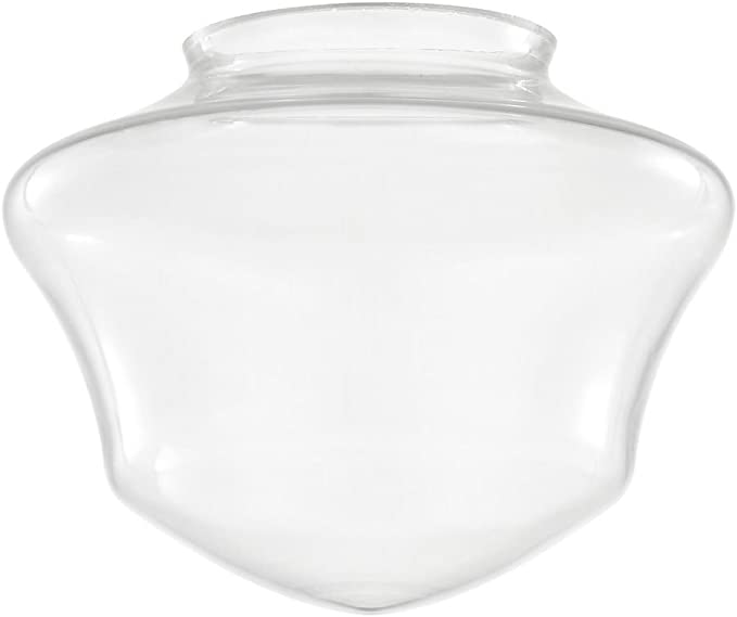 Clear Glass Shade 6 Inch Wide 3 Inch Fitter Opening