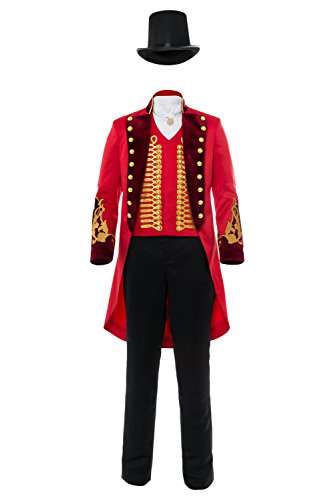 Adult Performance Uniform Showman Party Suit Circus Red Outfit Cosplay Costume (Female: X-Small, Red) by Laku