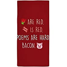 """CafePress - Emoji Roses Poems Bacon - Large Beach Towel, Soft 30""""x60"""" Towel with Unique Design"""
