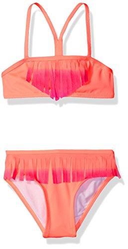 Jantzen Big Girls' Ombre Fringe Bikini Swimsuit, Melon, 16 (Water Melon Bikini)