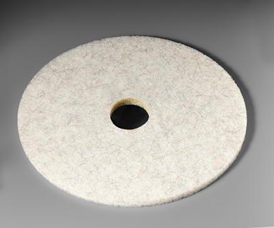 3M Natural Blend White Pad 3300, 17'' (Case of 5)