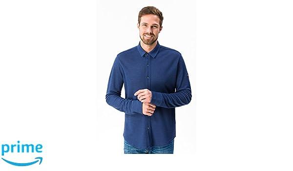 super natural M Piquet Merino Camisa, Hombre, SNM010560