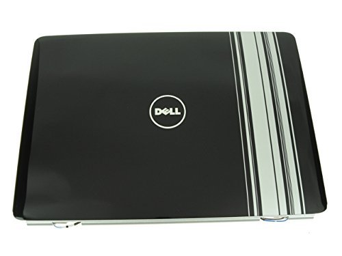KY320 - Dell Inspiron 1525 1526 LCD Back Top Cover Lid with Hinges - Stripes Pattern - Grade A by Dell