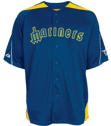 hot sale online 3a86b a57eb Amazon.com : Seattle Mariners Laser Cooperstown Throwback ...