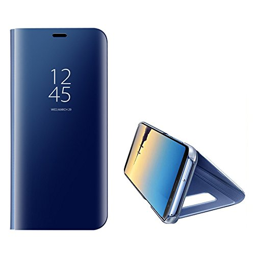 For Samsung Galaxy Note 8 Mirror Case,Shinetop Slim Fit Electroplate Plating Smart Clear View Case Flip Stand PC Hard Cover 360 Degree Full Body Shockproof Protective Skin Cover with - App Mirror Shopping