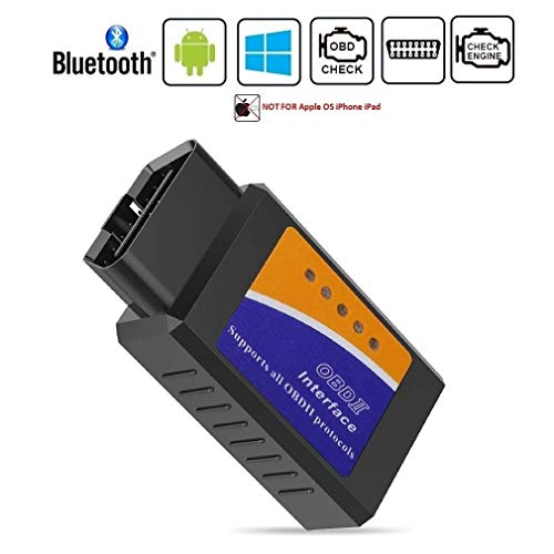 HOMEE Car Bluetooth OBD2 Diagnostic Scanner, OBDII Fault Code Reader Adapter Check Engine Light Scan Tool for Android & Windows Devices