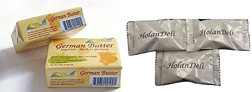 (pack of 2) Allgau Grass Fed German Butter Unsalted. Includes Our Exclusive HolanDeli Chocolate Mints.