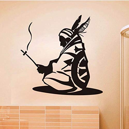 lxtmgzgf Indian Iroquois Art Wall Stickers Vinyl Wall Decal Native American Adhesive Removable Self Adhesive Wallpaper Living Room Decals