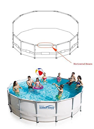 Oval 090-201304-1 Summer Waves T-Fitting for 24/' Pro Series Round Frame Pools