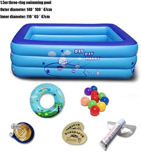 大人と子供、絶縁家族風呂バケツボールプールバスタブアダルト肥厚インフレータブルバスタブ用インフレータブルプール (Size : 1.5m)