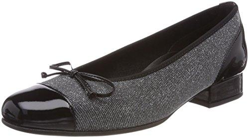 Gabor Ladies Comfort Basic Chiuso Ballerine Grigio (argento)