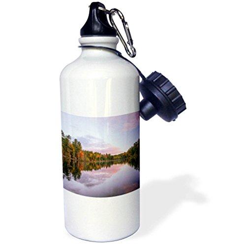 3dRose Danita Delimont - Lakes - Purple sunset over Irwin Lake, Hiawatha National Forest, Michigan. - 21 oz Sports Water Bottle (wb_279070_1) by 3dRose