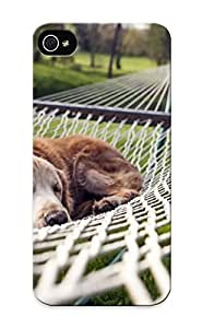 Durable Protector Case Cover With Dog Resting In A Hammock Hot Design For Iphone 5/5s (ideal Gift For Lovers)