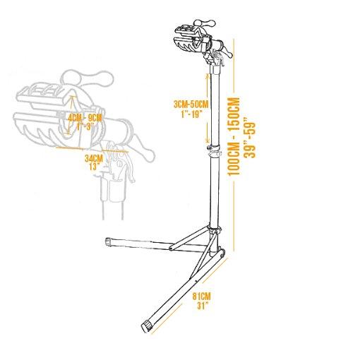 Bikehand Pro Mechanic Bicycle/Bike Repair Rack Stand by Bikehand (Image #8)