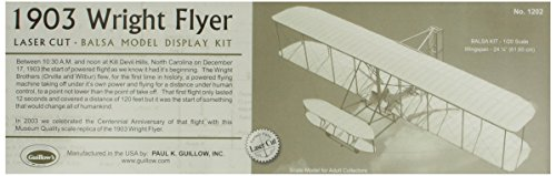 Guillow's 1903 Wright Brother Flyer Laser Cut Model Kit Wright Brothers First Powered Flight