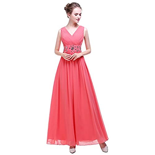Long Formal Dress In Coral Amazon