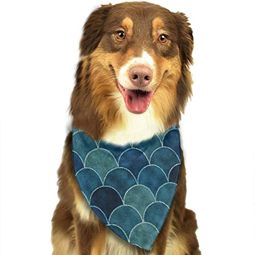 OURFASHION Blackish Green Bandana Triangle Bibs Scarfs Accessories for Pet Cats and Puppies.Size is About 27.6x11.8 Inches (70x30cm). -