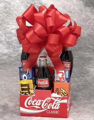 Snack Pack of Coca Cola Gift Set Snack Gifts by GiftBasketsAssociates