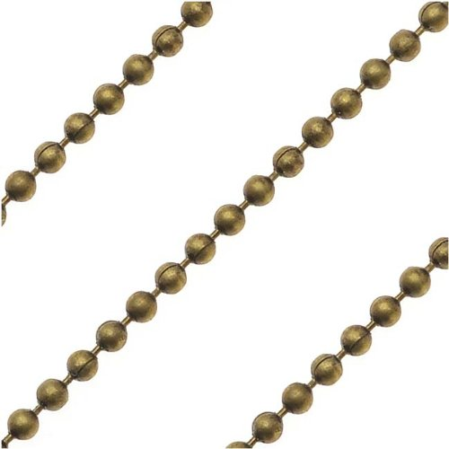 - Beadaholique Antiqued Brass 1.2mm Ball Chain - Sold Bulk by The Foot