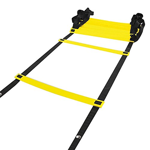 Agility Ladder,Speed Ladder for footwork Drills with Flat Rungs Snaps and Carrying Bag By iiSPORT