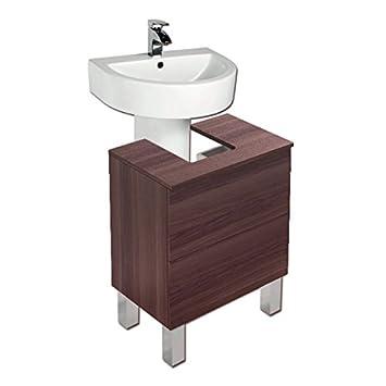 Alba Meuble sous lavabo Contemporain 60CM Frêne thé: Amazon.fr ...