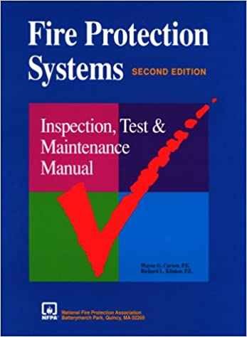 Amazon com: Fire Protection Systems: Inspection, Test and