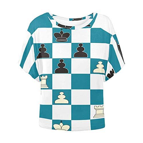(InterestPrint Women Shirts Fashion Chess Print T Shirts XL )