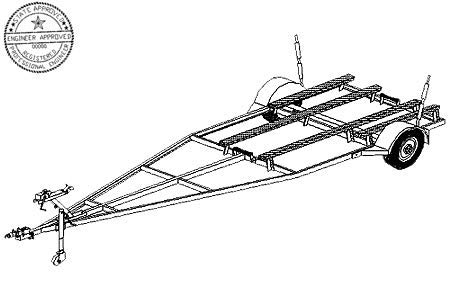 16FB Trailer Plan - 16'x6' Variable Width and Length Boat 2K Trailer DIY How-to Blueprint by Master Plans & Design